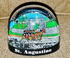 St. Augustine, Fl Snow Globe w/ Carriage & Historic Building - Very Nice