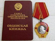 Vintage USSR Soviet 23K Solid Gold & Platinum Order of Lenin #364502 + Document