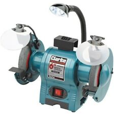 """Clarke CBG6250L 6"""" Bench Grinder With Lamp 6500524"""