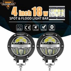 "2X 4"" ROUND LED WORK LIGHT BAR SPOT FLOOD DRVING LAMP OFFROAD CAR TRUCK ATV SUV"