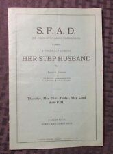 Vintage HER STEP HUSBAND by Larry Johnson VG Playbill/Program 16 pgs S.F.A.D.