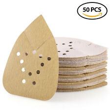 180 Grit Sanding Sheets Mouse Detail Palm Sander Sandpaper Hook Loop 12 Holes