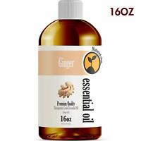 Ginger Essential Oil (16 Ounce Bottle) - Therapeutic Grade  16oz - Bulk Size