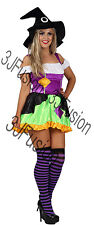 Adult Ladies Womens Spellbound Witch Fancy Dress Costume Halloween Horror (EO)