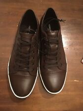 Kenneth Cole Men Zapato Sneaker, Brown Leather, Size 9