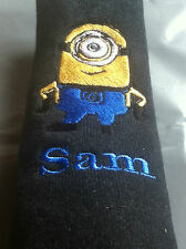 PERSONALISED CAR SEAT BELT PAD/COVER Despicable Me Minion free post (Recorded)