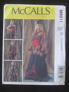 McCALL'S PATTERN - 6911 LADIES COSTUME BOLERO CORSET SKIRT OVERSKIRT 14-22 UNCUT