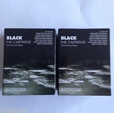 2 x Black Inks LC900 For Brother MFC-620CN,MFC-640CW