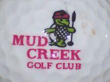 (1) Mud Creek Golf Club Golf Course Logo Golf Ball