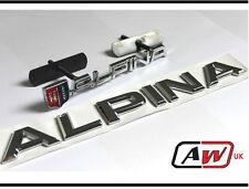 ALPINA Grill + Posteriore Set Distintivo BMW Bagagliaio EMBLEMA METALLO M TEC TECH M3 M5 M6 23 S