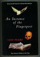 An Instance of the Fingerpost by Iain Pears Advanced reading copy (SOFTCOVER)