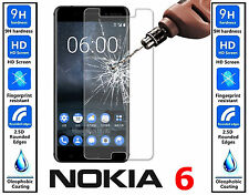2x Genuine 100% TEMPERED GLASS Invisible Screen Protector For Nokia 6