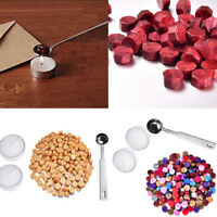230 Pieces Octagon Wax Seal Beads Stamp Sealing Wax Beads Melting Spoon Kit US