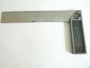 Vintage STANLEY No. 46-522 8 Inch Try Square. Made in U.S.A. Used.