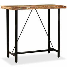 vidaXL Solid Reclaimed Wood Bar Table 120x60x107cm Kitchen Dining Furniture