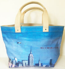 JACK SPADE limited edition CREATIVE TIME big CANVAS CARRYALL Tote Bag J HOLZER