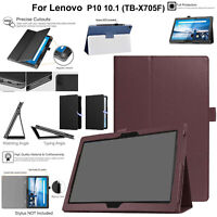 "For Lenovo Tab P10 10.1"" TB-X705F Case Leather Magnetic Stand Book Smart Cover"