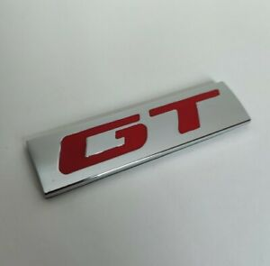 Rouge Argent Métal Chrome' Gt ' Badge Emblème Pour Peugeot 2008 308 5008 508 Sw