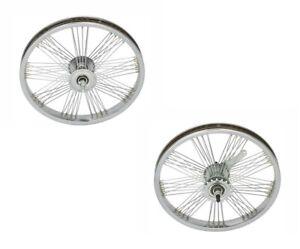 """FAN wheels 20"""" x 1.75 Steel 72 Spokes Lowrider Beach Cruiser New"""