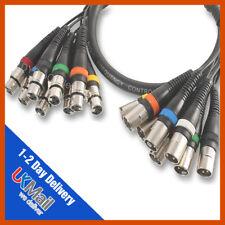 Pulse 8-Way stereo xlr mâle à femelle xlr loom/multicore | 10m