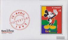 st. vincent Bloc 226 neuf 1992 ouverture euro-disney