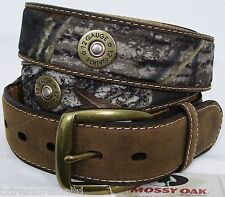 NOCONA belts men's western MOSSY OAK CAMO shot shell concho leather belt 38 NWT!