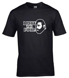 """""""I Pity The Fool"""" BA Baracas The A Team 80s TV Show T-shirt"""