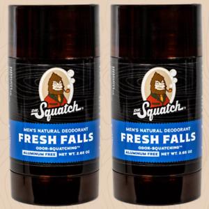 2 Sticks - Dr.squatch Fresh Falls Deodorant