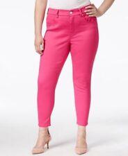 Melissa McCarthy Seven7 Plus Size Pencil Jeans Dark Pink Fuscia 14W