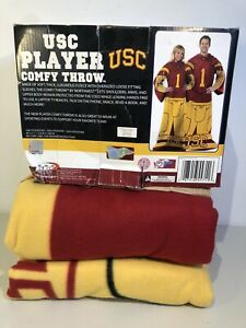 """USC Trojans Comfy Throw Blanket with Sleeves Adult Size 48x71"""" New"""