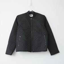 HOF115: Weekday Flight quilted jacket black / Jacke steppjacke schwarz S