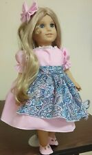 AMERICAN GIRL DOLL CLOTHES,FITS AG DOLL.DRESS and shoes, Pretty in pink,