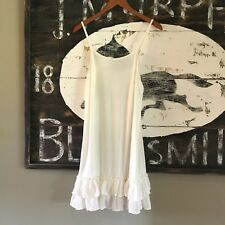 XL NWT White Ruffle Hem Layering Tunic Tank Top Women's 1X-Large  Top Extender