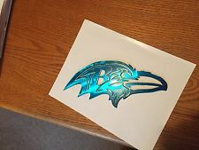 Plasma cut Painted Kandy Blue  Raven's head metal mancave/ Wall Decor