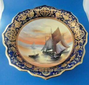 Noritake Sunset Sailing Boat Bowl With Green Backstamp