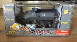 Ultimate Soldier 20270 German Panzer Gray Hanomag Halftrack & 3 Crew 1/32 New