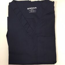 Bordova Quality Scrub Set Slim Fit Medical Uniform Unisex X-Small Navy