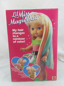 "NEW - Vintage Lil Miss Magic Hair 13"" Doll by Matell 4462 NIB"