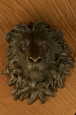 "The huge Lion head flat bronze sculpture statue The art hanging wall H""18.1 SALE"