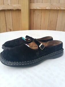 Born Hand Crafted Footwear Women Black Mary Jane Shoes Suede Leather 7.5 M