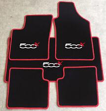 Autoteppich Fußmatten Kofferraum Set für Fiat 500x ab 2014' rot weiss 5tlg. Neu