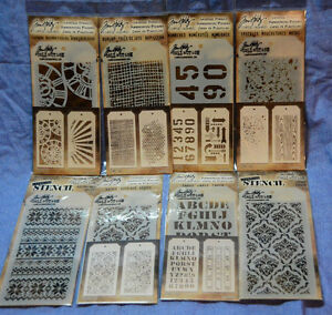 Tim Holtz Layering Stencils (1 or 2/pack): you choose/combined shipping: NEW!!