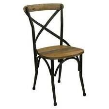 New Vintage Look Dining Chair Rustic Cross Back French Provincial Cafe Chairs