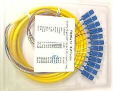 3M 12-fiber SC/UPC 9/125 Single-mode Ribbon Fan-out Fiber Optic Pigtail - 75321