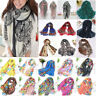 Women Soft Long Neck Large Scarf Wrap Shawl Boho Floral Chiffon Stole Scarves