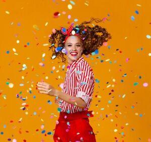 100gr Papier Konfetti im Beutel Geburtstag Hochzeit Party JGA Fasching Karneval