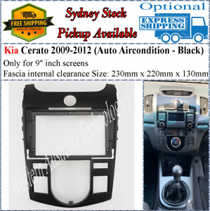 For 9 Nine Inch Screen Fascia facia KIA Cerato 2009-2012 Auto AC Air Condition*