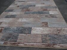 Exclusiver Moderner Design Teppich Holz Optik Set Preis 160x230 cm + 80 x 230 cm