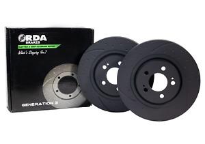RDA Slotted And Dimpled Brake Rotor Pair Rear RDA7905D