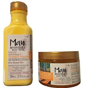 Maui Moisture Body Care Pineapple Papaya In Shower Lotion and Body Jelly